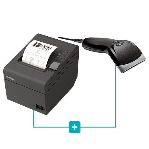 Kit Impressora TM-T20 Epson + Leitor BR-400 Bematech  - RW Automação