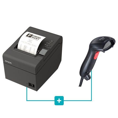 Kit Impressora TM-T20 Epson + Leitor Flash Elgin  - RW Automação