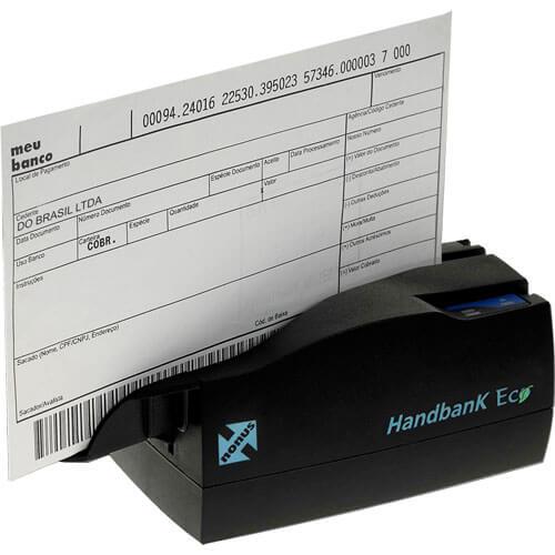 Leitor de Boleto Bancário e Cheque Nonus Handbank Eco 10  - RW Automação