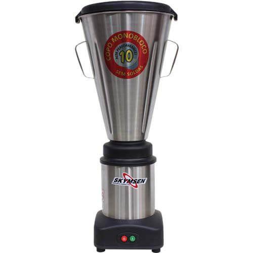 Liquidificador Inox 10L Copo Monobloco Skymsen LS-10MB-N 127V  - RW Automação