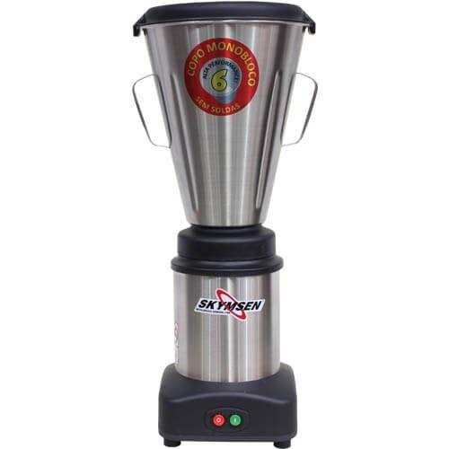 Liquidificador Inox 6L Copo Monobloco Skymsen LS-06MB-N 127V  - RW Automação