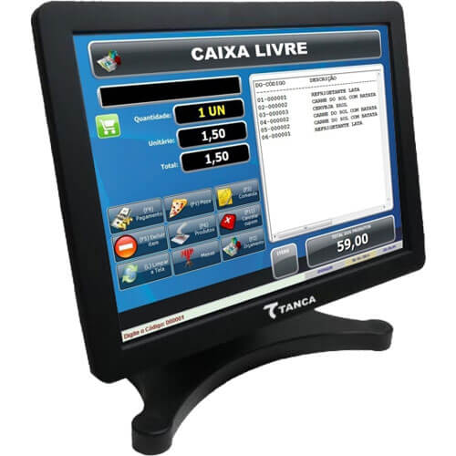 Monitor Touch Screen Tanca 15 pol. TMT-520  - RW Automação