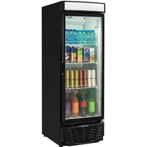 Refrigerador Expositor Vertical 570L Gelopar Esmeralda GLDR-570 PR 127V  - RW Automação