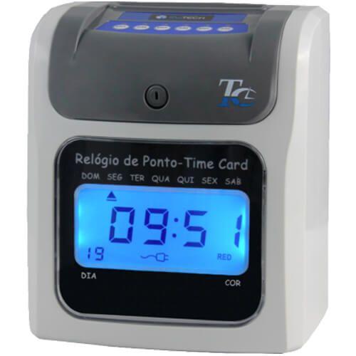 Relógio de Ponto Cartográfico RWTech Time Card - Acompanha 50 Cartões  - RW Automação