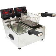 Fritadeira Elétrica 2 Cubas Inox 2x3L Cotherm Frita Fácil 127V