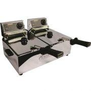 Fritadeira Elétrica 2 Cubas Inox 5L Cotherm Turbo 220V