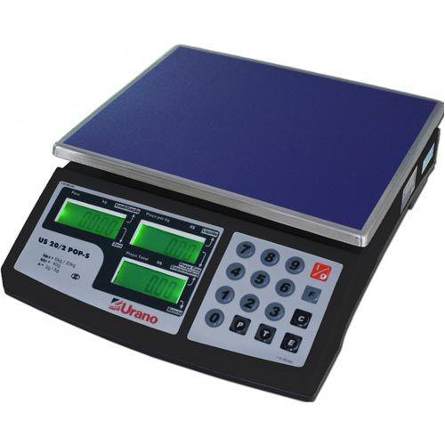 Balança Digital Urano POP-S 20/2 20Kg c/ Bateria INMETRO  - M3 Automação