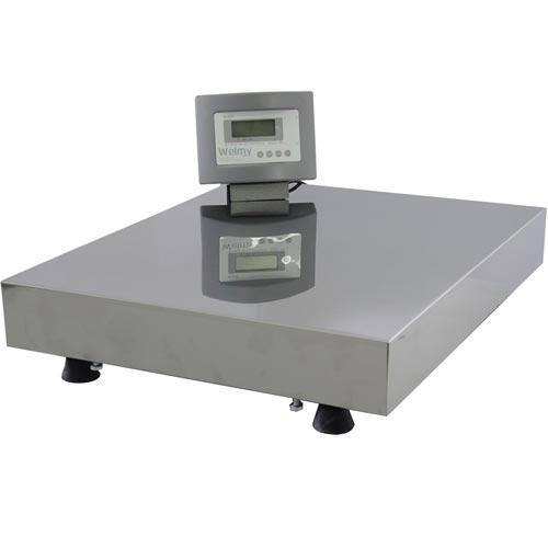 Balança Plataforma Welmy W300 300Kg 50x60cm c/ Coluna e Bateria Serial INMETRO  - M3 Automação