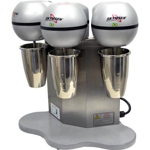 Batedor de Milk-Shake 3x0,8L Copo Inox Skymsen BMS-3-N 127V  - M3 Automação