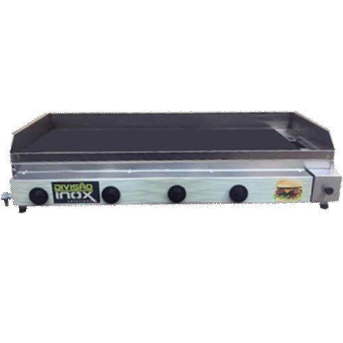 Chapa a Gás 4 Queimadores Ital Inox CBDI-1080  - M3 Automação