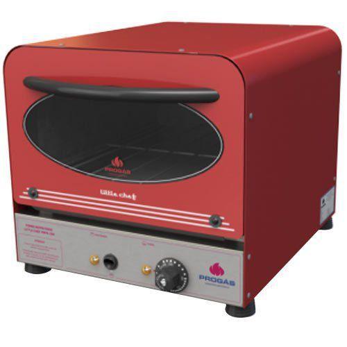 Forno Lastro Elétrico Progás Little Chef PRPE-200 Color Vermelho 127V  - M3 Automação