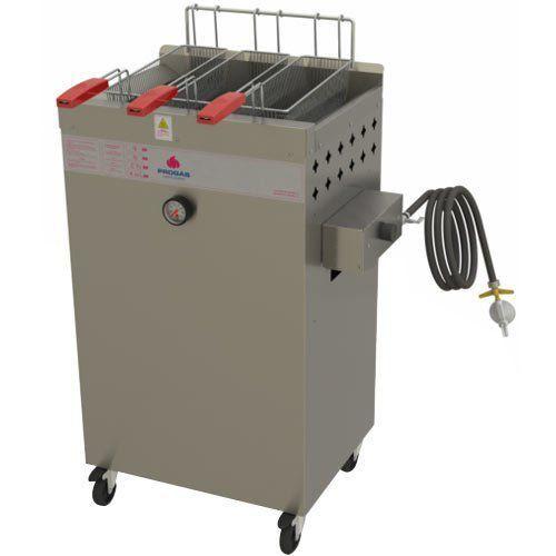 Fritadeira a Gás Água e Óleo 1 Cuba 20L Progás Fry Fritter Style PR-2000BPG  - M3 Automação