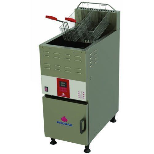 Fritadeira a Gás Água e Óleo 1 Cuba 45L Progás PFAP-45L 127V  - M3 Automação