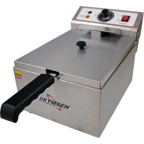 Fritadeira Elétrica 1 Cuba Inox 5,5L Skymsen FE-10-N 127V  - M3 Automação