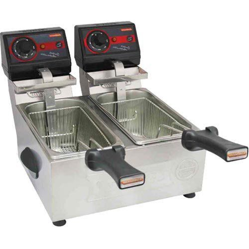Fritadeira Elétrica 2 Cubas Inox 2x3L Cotherm Frita Fácil 127V  - M3 Automação