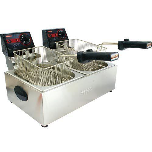Fritadeira Elétrica 2 Cubas Inox 2x5L Cotherm Frita Fácil 127V  - M3 Automação