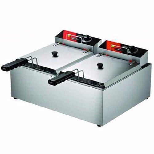 Fritadeira Elétrica 2 Cubas Inox 2x5L Metalcubas FRCE 10 L 127V  - M3 Automação