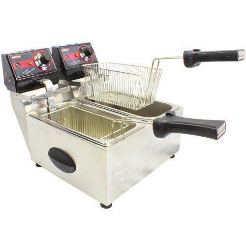 Fritadeira Elétrica 2 Cubas Inox 3L e 5L Cotherm Frita Fácil 127V  - M3 Automação