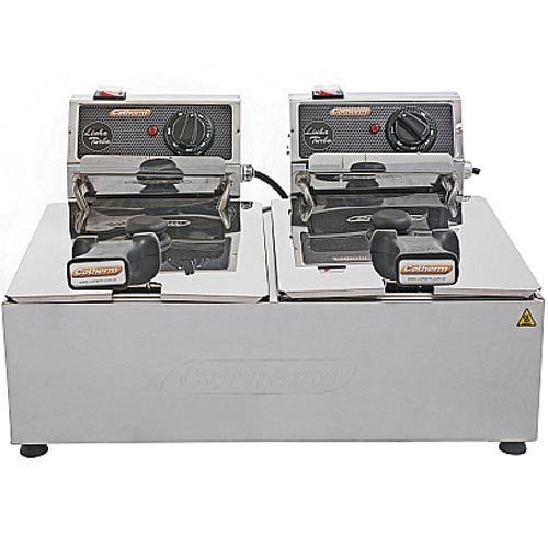 Fritadeira Elétrica 2 Cubas Inox 5L Cotherm Turbo 220V  - M3 Automação