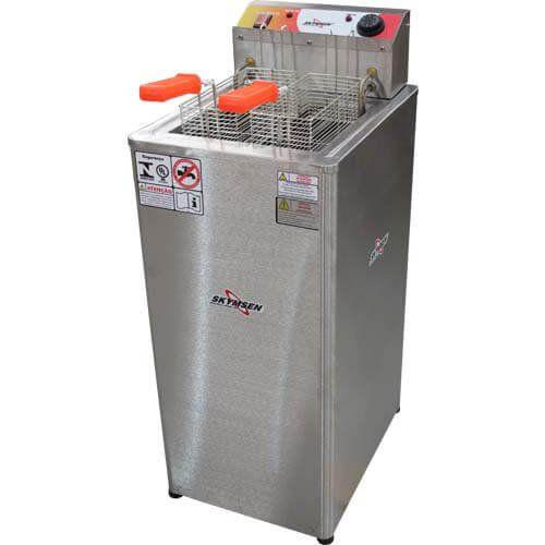 Fritadeira Elétrica Água e Óleo 1 Cuba Inox Skymsen FRP-18 220V  - M3 Automação