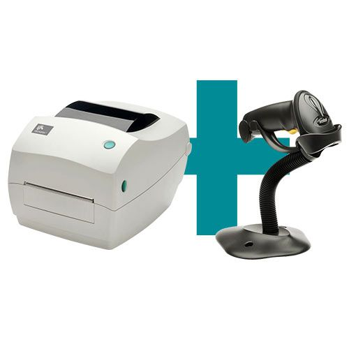 Kit Impressora GC420t + Leitor LS2208 c/ Suporte - Zebra  - M3 Automação