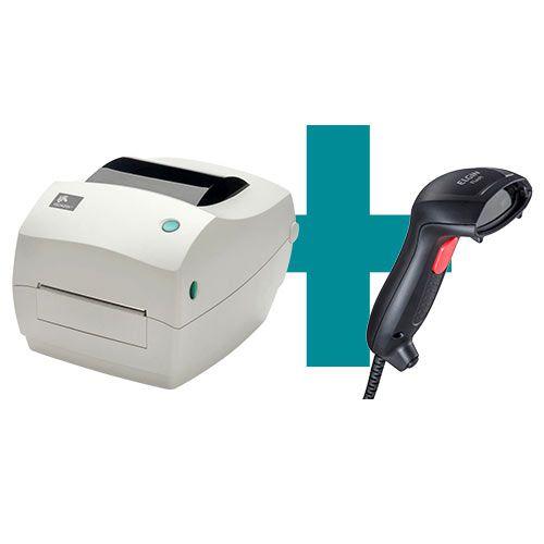 Kit Impressora GC420t Zebra + Leitor Flash Elgin  - M3 Automação
