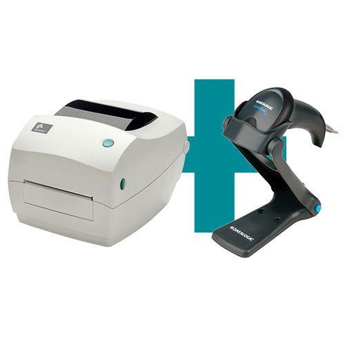 Kit Impressora GC420t Zebra + Leitor QW2100 c/ Suporte Datalogic  - M3 Automação