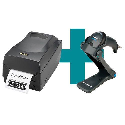 Kit Impressora OS-2140 Argox + Leitor QW2100 c/ Suporte Datalogic  - M3 Automação