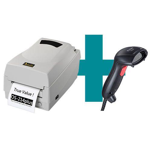 Kit Impressora OS-214 Plus Argox + Leitor Flash Elgin  - M3 Automação