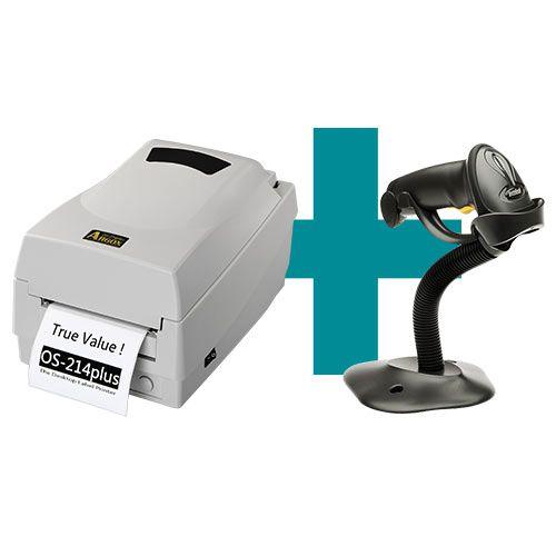 Kit Impressora OS-214 Plus Argox + Leitor LS2208 c/ Suporte Zebra  - M3 Automação