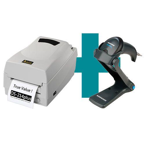 Kit Impressora OS-214 Plus Argox + Leitor QW2100 c/ Suporte Datalogic  - M3 Automação