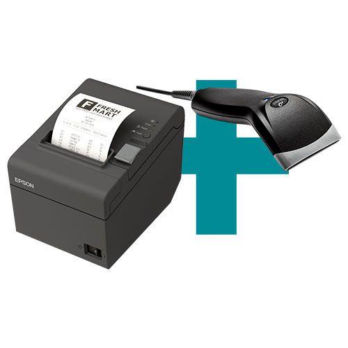 Kit Impressora TM-T20 Epson + Leitor BR-400 Bematech  - M3 Automação