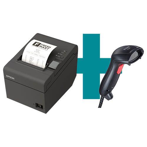 Kit Impressora TM-T20 Epson + Leitor Flash Elgin  - M3 Automação