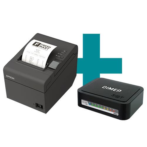 Kit SAT Fiscal D-SAT 2.0 Dimep + Impressora TM-T20 Epson  - M3 Automação