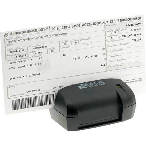Leitor de Boleto Bancário e Cheque Nonus Homebank 10  - M3 Automação