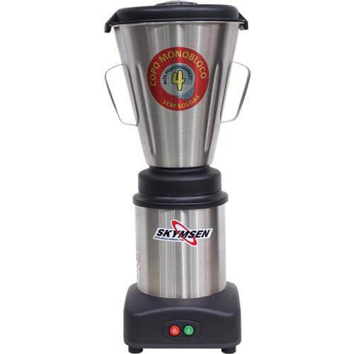 Liquidificador Inox 4L Copo Monobloco Skymsen LS-04MB-N 220V  - M3 Automação