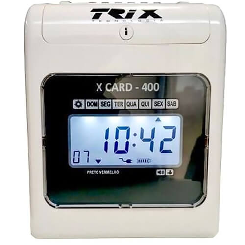 Relógio de Ponto Cartográfico Trix Tecnologia X Card-400  - M3 Automação