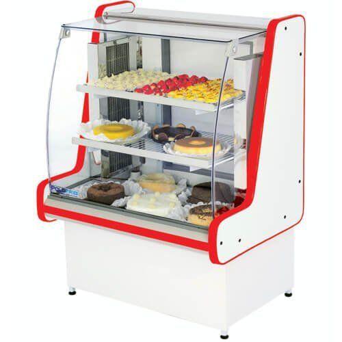 Vitrine Refrigerada Pop Luxo 1,25m Vidro Semi Curvo - Polofrio  - M3 Automação
