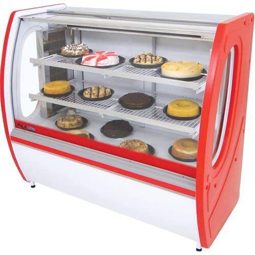 Vitrine Refrigerada Premium 1,25m Vidro Semi Curvo - Polofrio  - M3 Automação