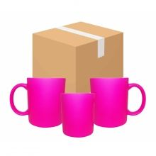 Caneca Fluorescente Rosa Pink 12 unidades