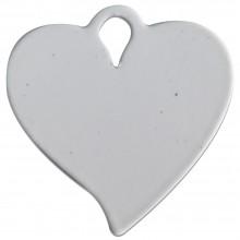 Chaveiro de Metal Para Sublimação Formato Coração pct com 5un