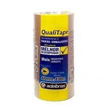 Fita Adesiva Para Embalagens - QualiTape - 48mm x 100m - Pacote Com 5 Rolos