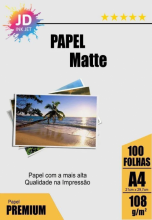 Papel Matte 108 g/m2 100 Folhas A4