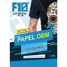 Papel OBM Fundo Branco para Tecidos escuros 10 folhas A3