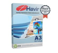 Papel Sublimático Blue Paper Havir 100 Folhas A3 Resinado 130 g/m2