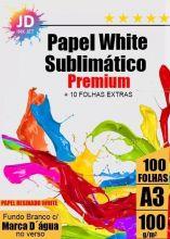 Papel Sublimático White Premium A3 Resinado 100 g/m2 100 Folhas + 10  de Brinde
