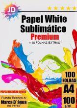 Papel Sublimático White Premium A4 Resinado 100 g/m2 100 Folhas + 10  de Brinde