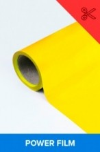 Power film brilhante amarelo  0,50m² (1/2 de m²)