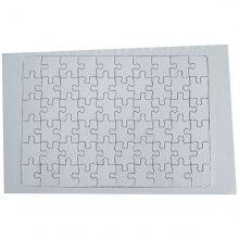 Quebra cabeça 60  peças para sublimação pacote com 5un A4 27cm x 19cm
