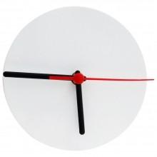 Relógio de Metal Branco Redondo 15x15